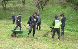 陸前高田市の温泉地施設の整備活動